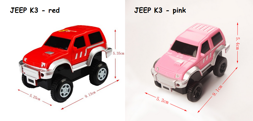 jeep red+pink