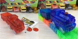 mašinka modrá + červená + vagon
